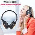 Zealot b570 dobrável fone de ouvido estéreo de alta fidelidade sem fio bluetooth fone de ouvido fone de ouvido com tela lcd fm radio micro-slot para cartão sd