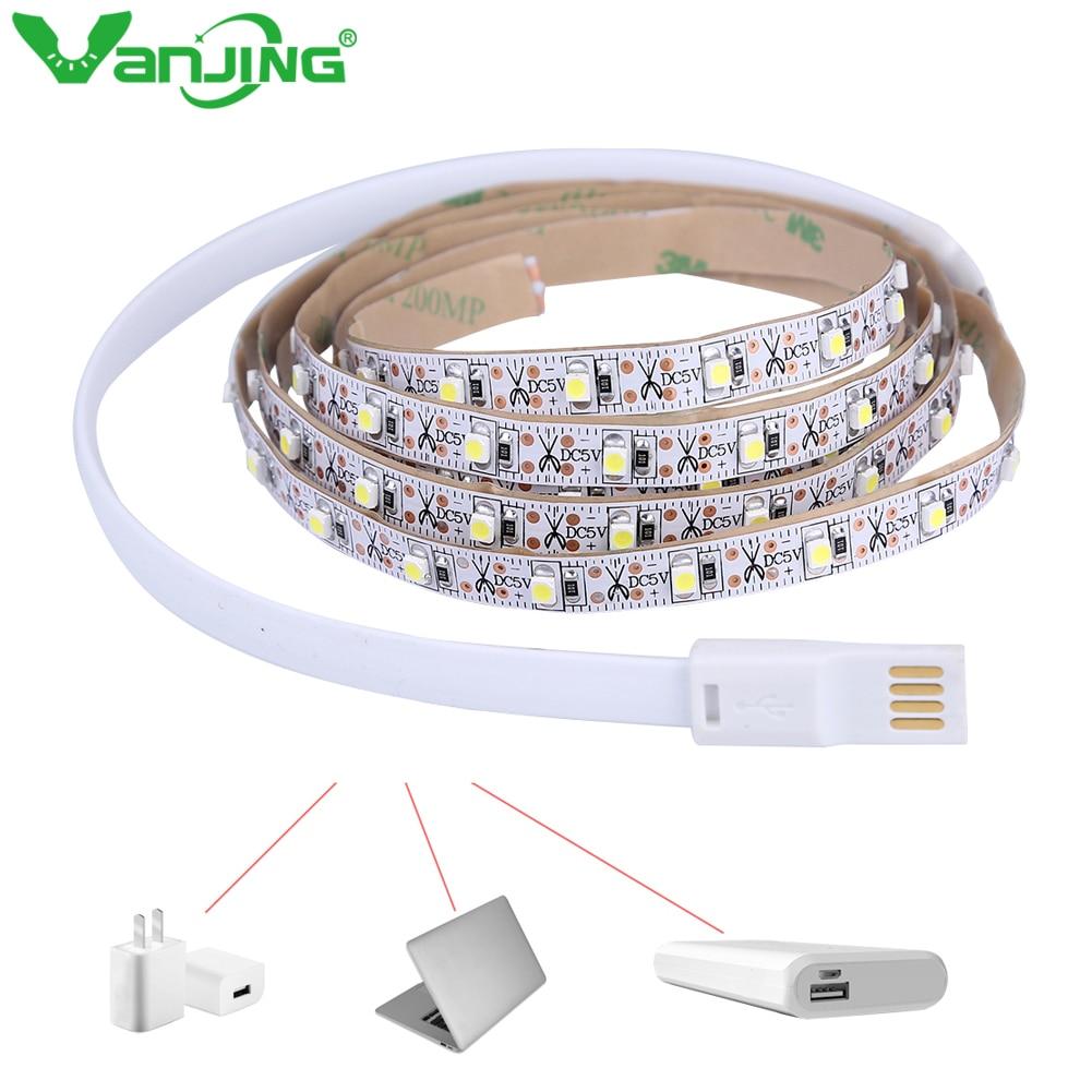 USB LED Strip DC 4.5V 5ft 1.5M 90led Bright White for Backlight Flat Screen TV LCD Desktop Monitors
