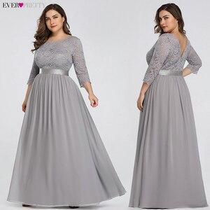 Image 4 - גלימת דה Soiree אי פעם די 7412 ארוך תחרה ערב מסיבת שמלות 2020 ארוך שרוול רשמי חורף נשים אלגנטי Abendkleider