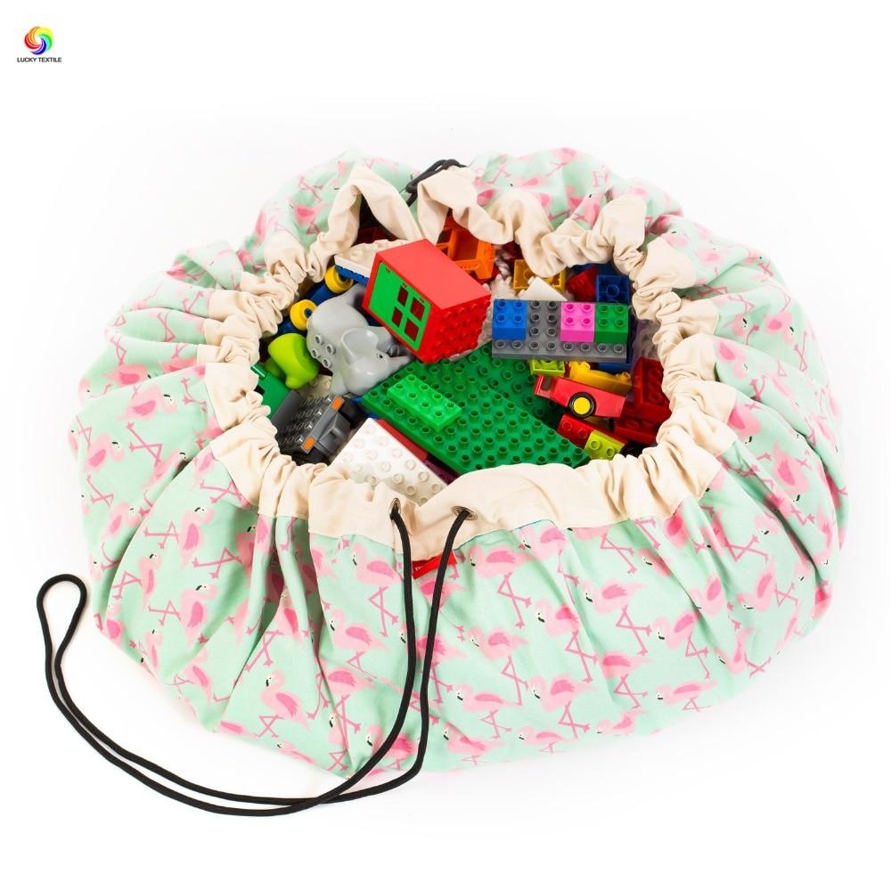 home decor storage bag football play mat bird canvas 140*140cm baby children toy carpet for living room home outdoor rug mat