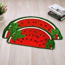2015 cute watermelon pattern carpet mats doormat door bedroom hall kitchen semi-absorbent non-slip mats scrape sand 40cm*60cm