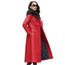 Genuine Leather Jacket Women's Winter Jacket Real Wool Fur Collar Luxury Sheepskin Coat Korean Long Coats Abrigo Mujer MY1887