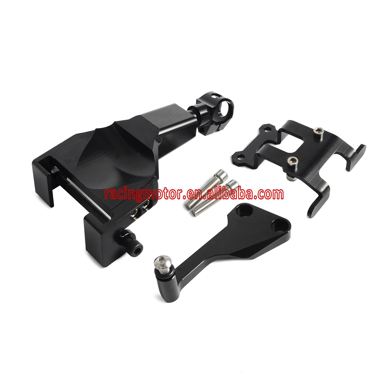 ФОТО Black Motorcycle Stablizer Damper Mounting Bracket Kit For Yamaha MT-07 MT07 MOTO CAGE 2014 2015 2016