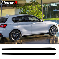 2pcs 2017 New Style M Performance Side Skirt Stripe Decals Vinyl Stickers For BMW 1 Series