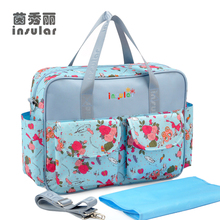 Multi-Colored Baby Diaper Bag Large-Capacity Fashionable Mother's Maternity Backpack Baby Stroller Nappy Bag Mommy Bag shou multi functional 102404 large travel backpack stroller bag preppy style multi baby nappy large trav backpacks