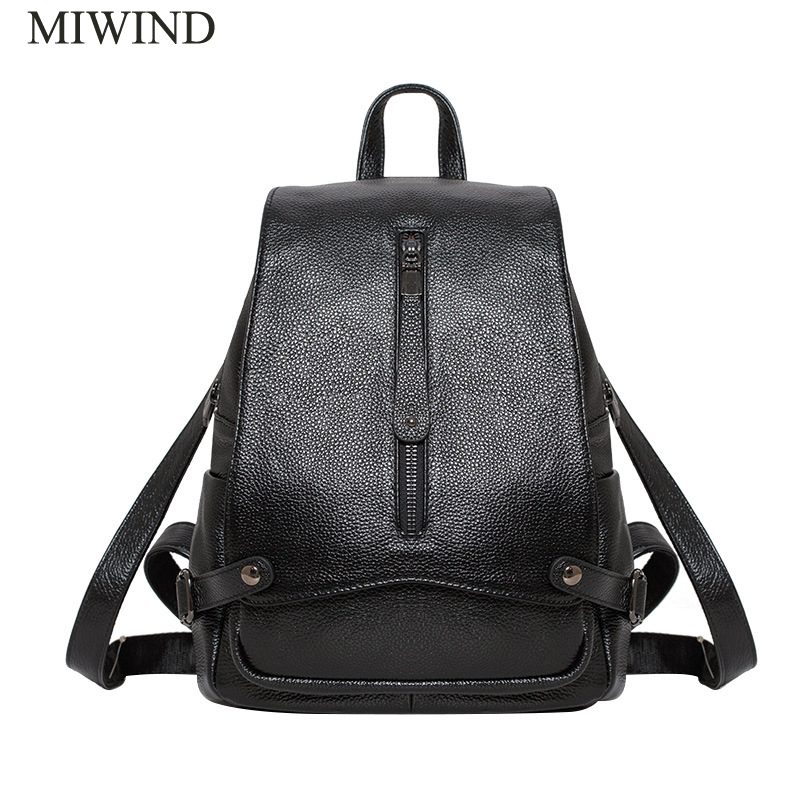 MIWIND Backpack Natural Soft Real Leather Backpacks Genuine First Layer Cow Leather Top Layer Cowhide Women Backpack WUB079MIWIND Backpack Natural Soft Real Leather Backpacks Genuine First Layer Cow Leather Top Layer Cowhide Women Backpack WUB079