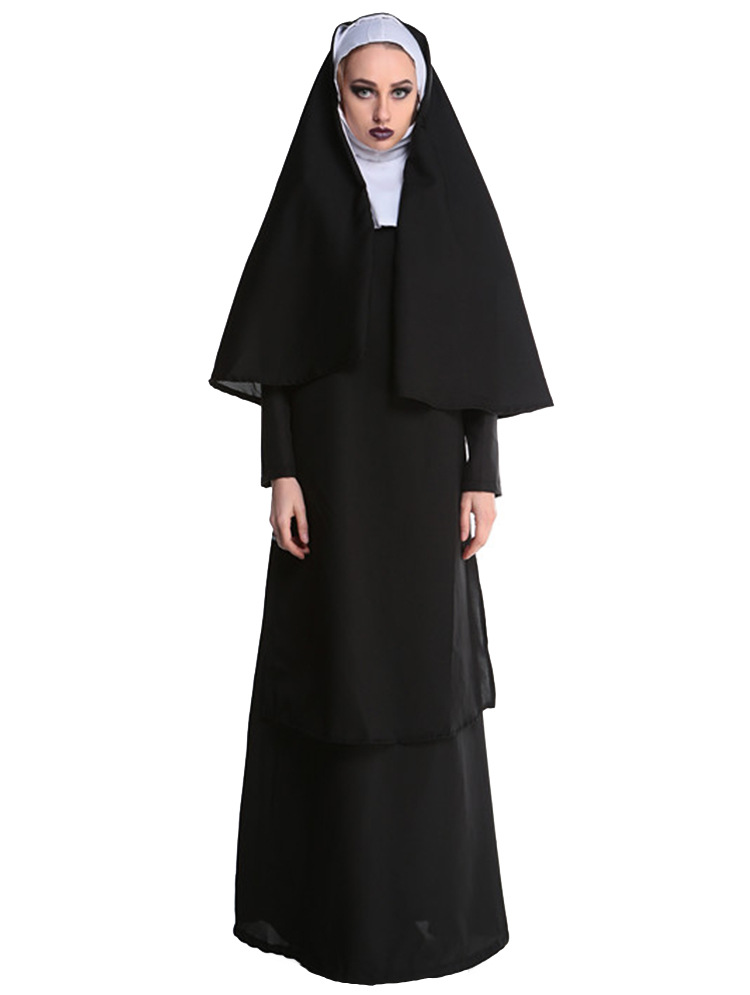 Ladies Nun Fancy Dress Costume with headdress