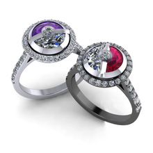 2019 New Pokeball Pokemon Cute Silver Ring with Zircon Stone for Women Wedding Engagement Fashion Jewelry