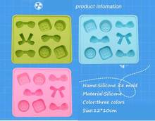 BF050 Candy color food-grade silicone ice mold ice molded case DIY Ice maker bowknot design 12*10cm  Free shipping цена