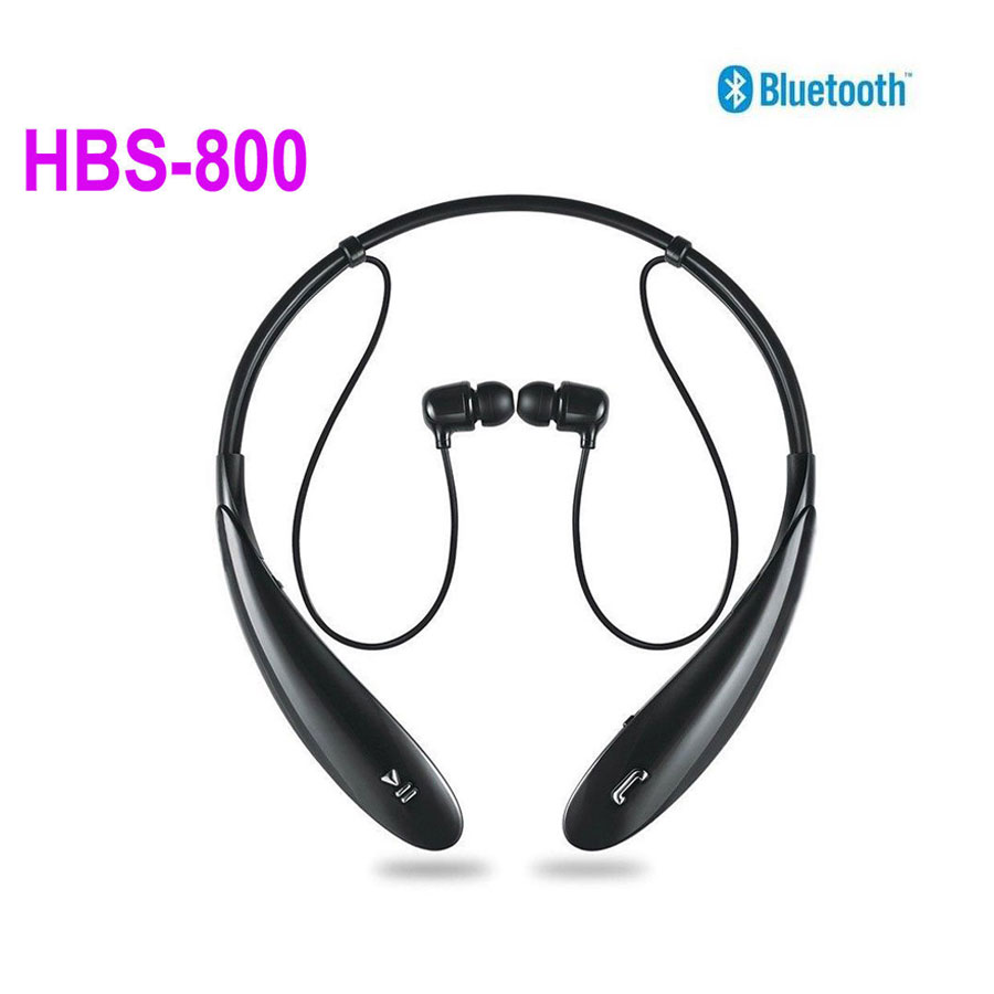 Ultra Brand New Hbs800 Black Sports Wireless Bluetooth Earbud Neckband  Stereo Headset Earphone Free Shipping(
