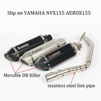 Full Exhaust Motorcycle System Muffler DB Killer Front connection Link Pipe Akrapovic Laser Marking For YAMAHA NVX155 AEROX155