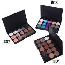 1pcs Natural 15 Colors Eye shadow Comestic Long Lasting Makeup Eyeshadow Palette Matte Brand For Women