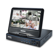 ANNKE 10.1″ LCD Monitor 720P HD 8CH CCTV DVR NVR HVR in 1 Network CCTV Video System