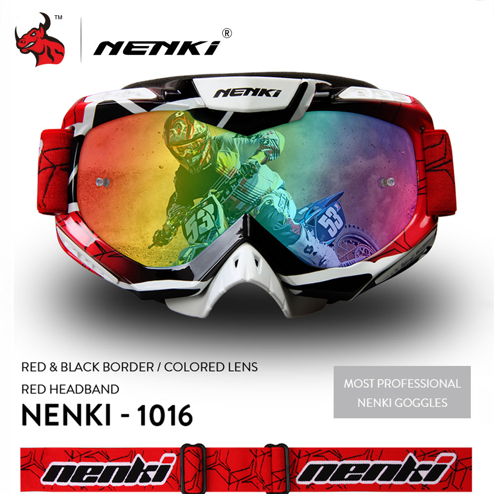 NENKI Motocross Glasses Moto Men Women Motorcycle Glasses Helmet Off-Road Motocross Goggles ATV MX BMX DH MTB Eyewear