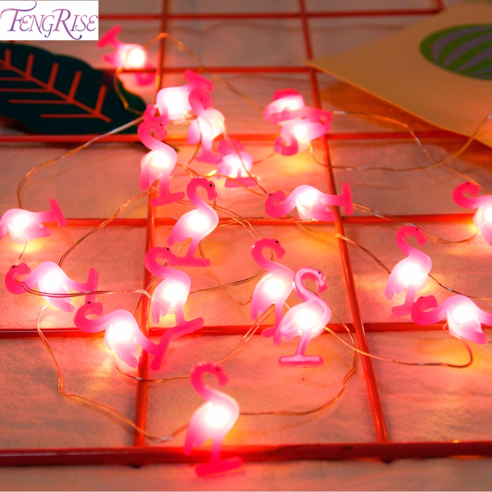 FengRise Flamingo LED Light Star Unicorn Decor Hawaiian Party Pineapple Supplies Wedding
