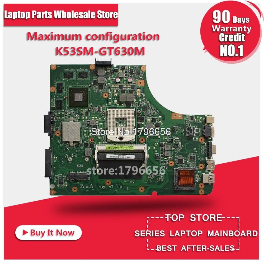 GT630M 2GB K53SV REV:3.2/3.1 motherboard Upgrade preferred For ASUS K53SV A53S K53S X53S P53S K53SJ K53SM laptop motherboard