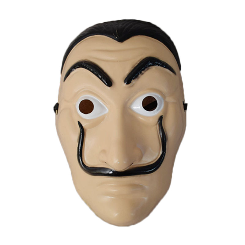 Salvador Dali Movie Mask Money Heist The House of Paper La Casa De Papel Cosplay Halloween Party Face Mask