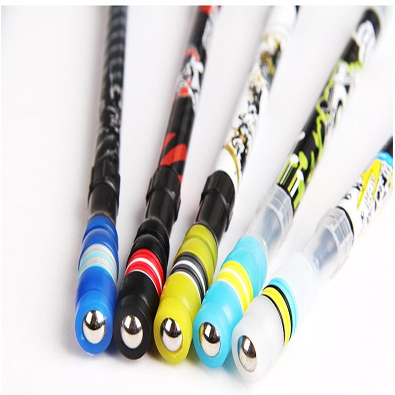 1 Pcs Set gel pen cute Creative Spinning Rotating material escolar fourniture bureau boligrafos escolares ballpoint pen caneta in Gel Pens from Office School Supplies