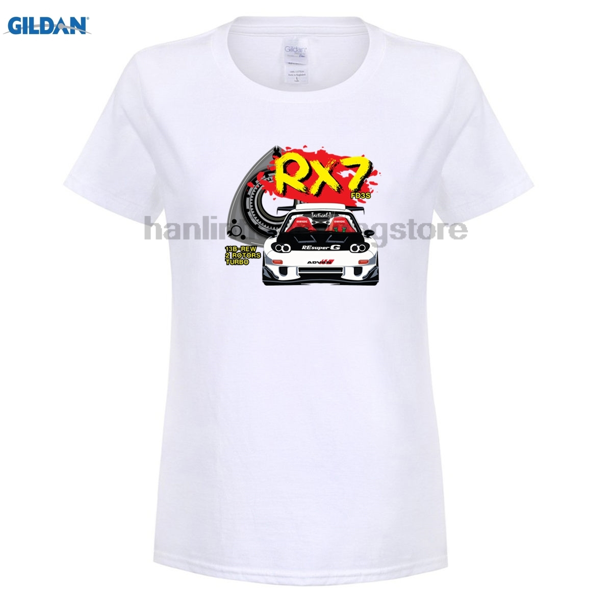 GILDAN 2018 women Summer Clothing 100% Cotton women t shirt High Quality turbo drift EVO GTR RX7 S2000Cotton T Shirt