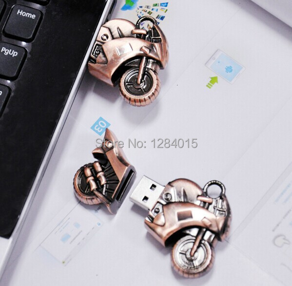 Metal Motorcycle USB stick flashdrive