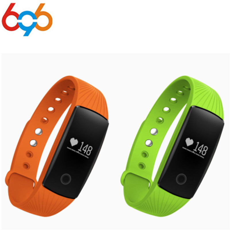 696 ID107 Bluetooth Smart Bracelet Smart band Heart Rate Monitor Multi sports Cardio Fitness Guided Breathing Tracker