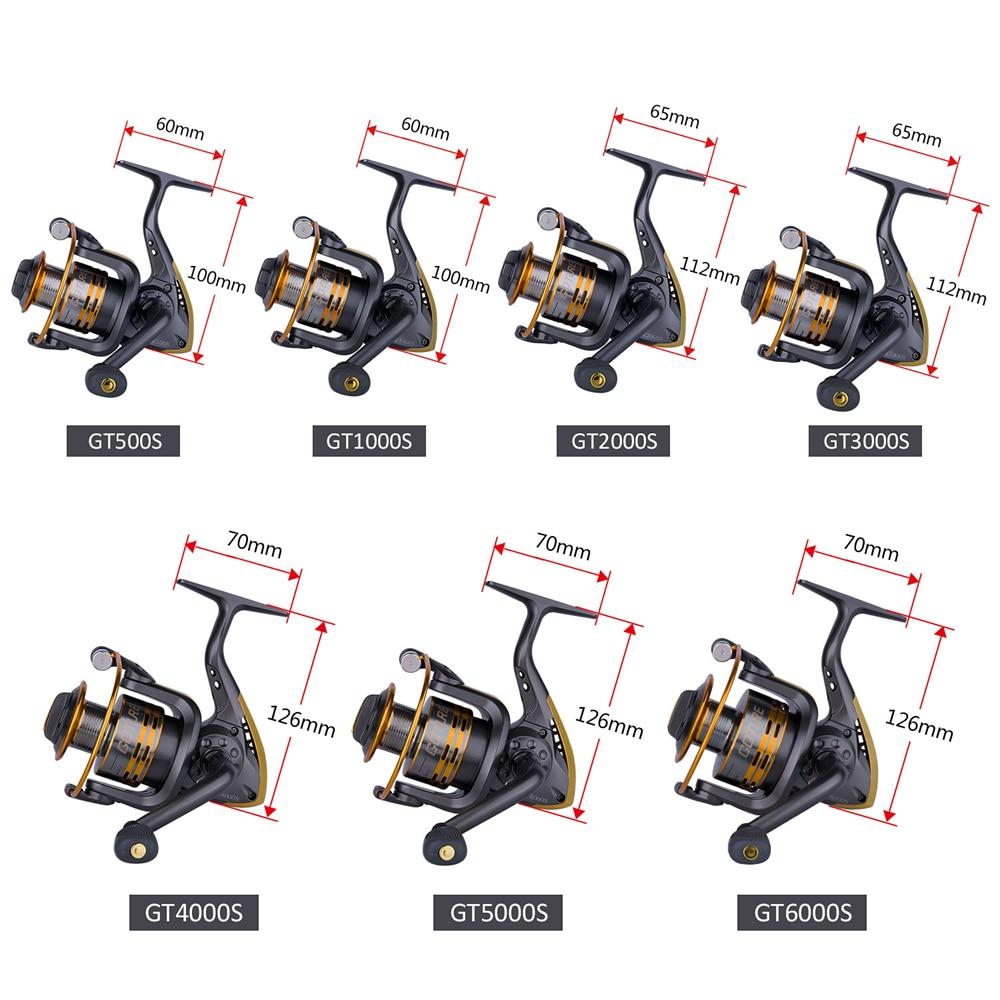 Goture Spinning Fishing Reel Metal Spool Coil 6BB Voor Zoetwater - Visvangst - Foto 4