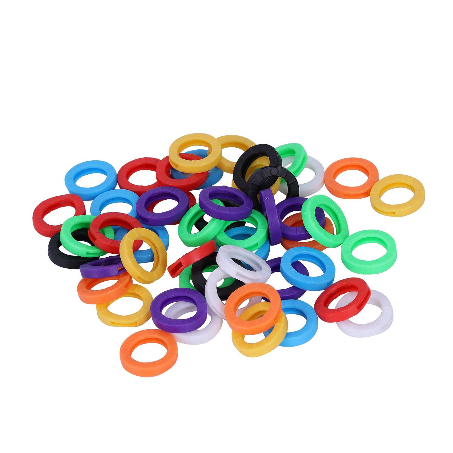 Office & School Supplies Set Small Size Id Identify Key Ring Cap Tag Random Color Customers First 50pcs