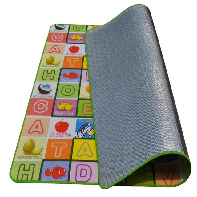 play tapete  Hot Sale New Style kids Play Mat 1.8*1.5 M Fruit Alphabet Pad Kid Beach Picnic Mat Baby Crawling Mat