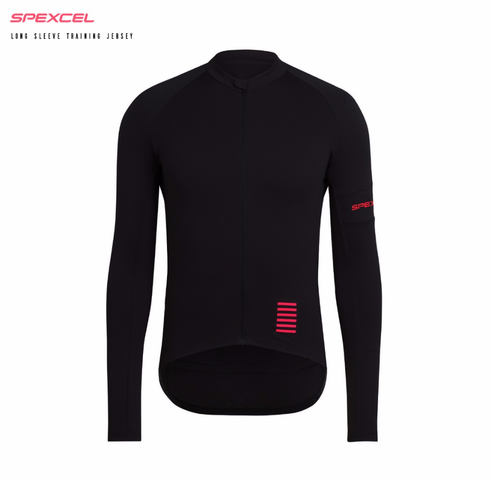 Camiseta de manga larga de ciclismo SPEXCEL PRO TEAM de primavera y verano, camiseta de competición de bicicleta de calidad, equipo de ciclismo Rosa negro, envío gratis
