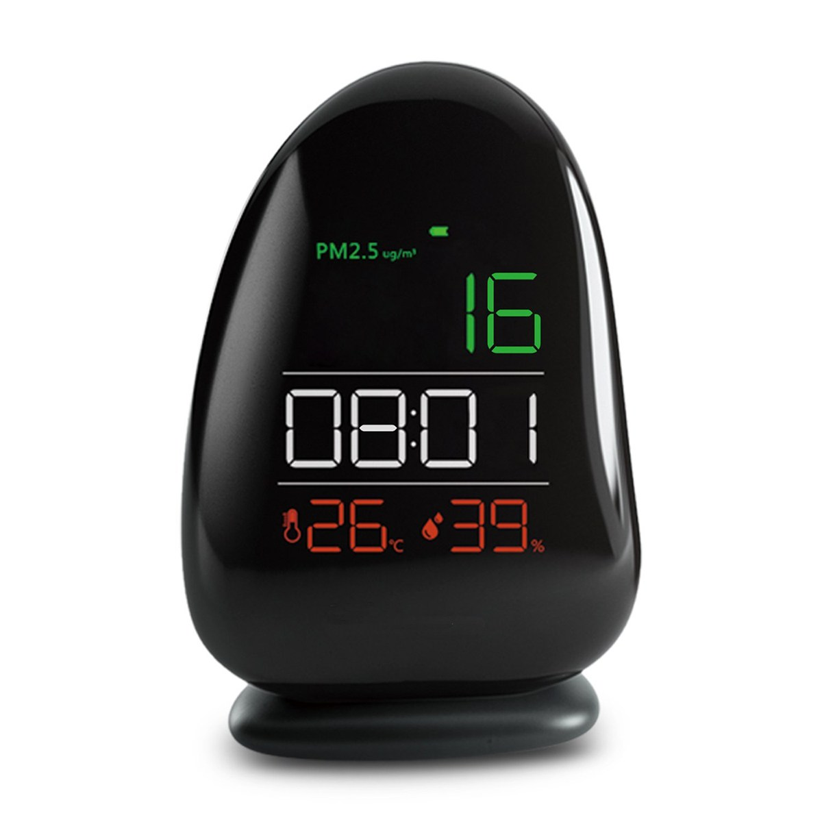 PM2.5 Laser Sensor Detector Air Quality Monitor Meter w/ Temperature/Level/RH humidity/Time Gas Analyzers For Home Office School digital carbon dioxide monitor indoor air quality co2 meter temperature rh humidity twa stel 99 points memory taiwan made
