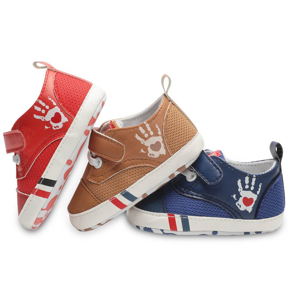 Infant First Walkers Sneakers Soft Unisex Baby Shoes New Born Boy Girl Canvas Hook & Loop 3 Colors Available 2018 Fashion
