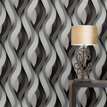 beibehang Personalized abstract thick curve stripe bar checkout wallpaper restau