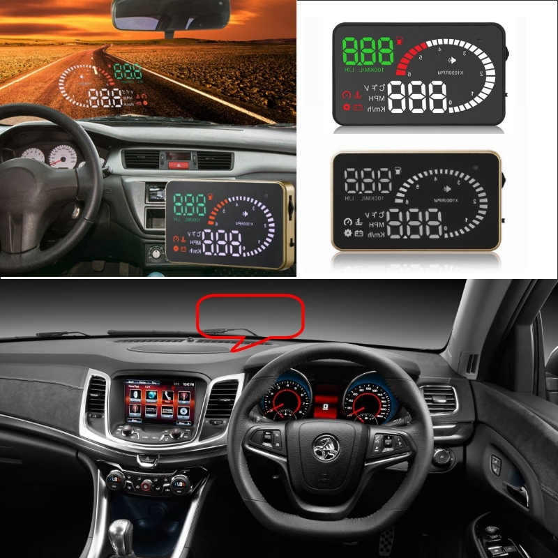 Liislee Car HUD Head Up Display For Holden Commodore Captiva Colorado HSV Caprice - Safe Screen Projector / OBD II Connector цена 2017