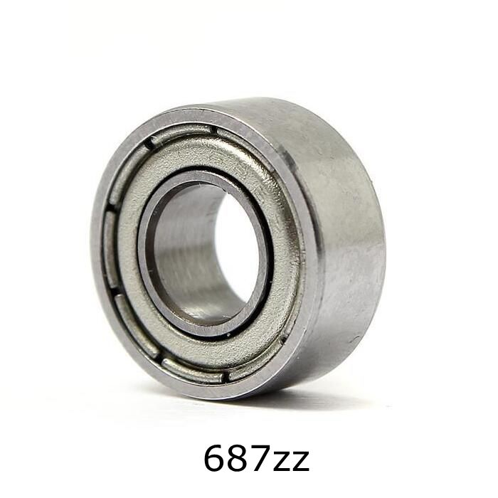 10pcs 7*14*5mm Deep Groove Ball Bearing 687ZZ Bearing Steel Sealed Double Shielded Dustproof for Instrument Electrical 6000 2rs sealed deep groove ball bearing 10mm inner dia black silver tone