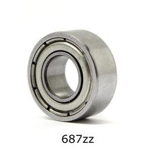 10pcs 7 14 5mm Deep Groove Ball Bearing 687ZZ Bearing Steel Sealed Double Shielded Dustproof for