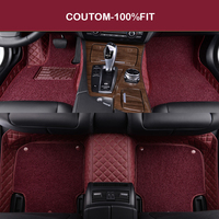 Custom Car Floor Mats For Lada Granta Vesta Priora Kalina 110 111 112 Samara Ring Kalina