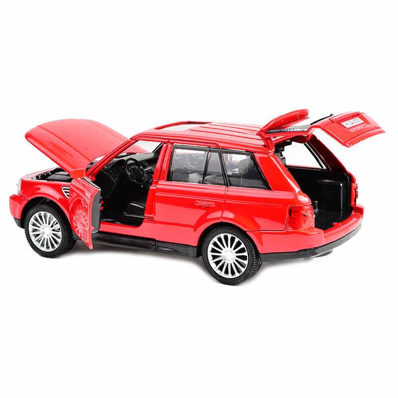 Электрическая игрушка автомобиль внедорожник модель автомобиля со светом и звуком, откатная 15 см