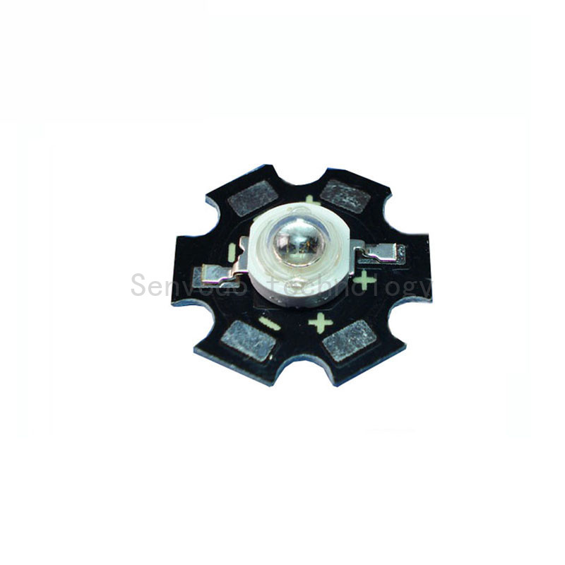 50X high power 5W double chip 730nm led light beads with 20mm aluminum heat sink free shipping