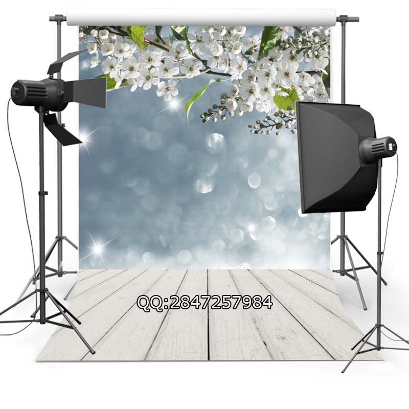 Thin Vinyl photography background Customize spring flowers  Backdrops Digital Printing Background for photo Studio F-2340