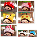 High Quality New Brand Cute Monchhichi Car Auto Head Neck Rest Headrest Pillow Back Cushion Assorted Color Free Shipping EA1029