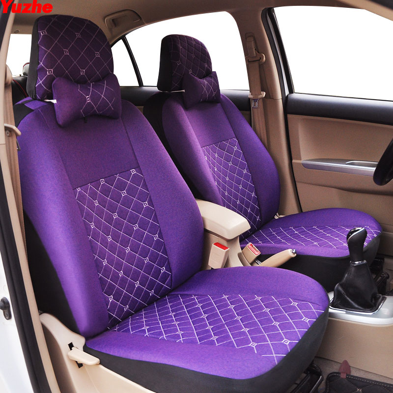 Yuzhe Universal car seat cover For peugeot 206 307 407 308 508 406 301 205 car accessories cover for vehicle seat yuzhe linen car seat cover for peugeot 205 206 207 2008 3008 301 306 307 308 405 406 407 car accessories styling cushion