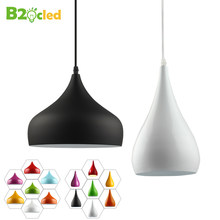 Kitchen Modern fashion simple led pendant light for dining room Restaurant lamp aluminum hanging room lamp Renovation Lampshade(China)