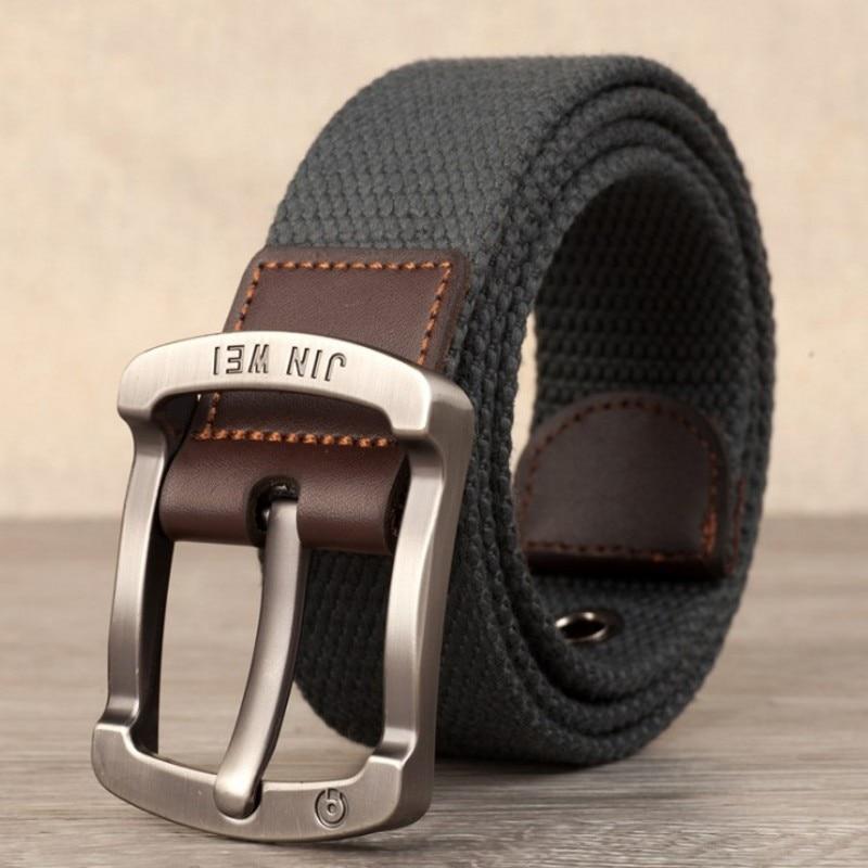 Военный ремень с пряжкой для спорта на открытом воздухе, тактический ремень для мужчин и женщин, высококачественные холщовые ремни для джинсов, мужские роскошные повседневные ремни - Цвет: Dark gray