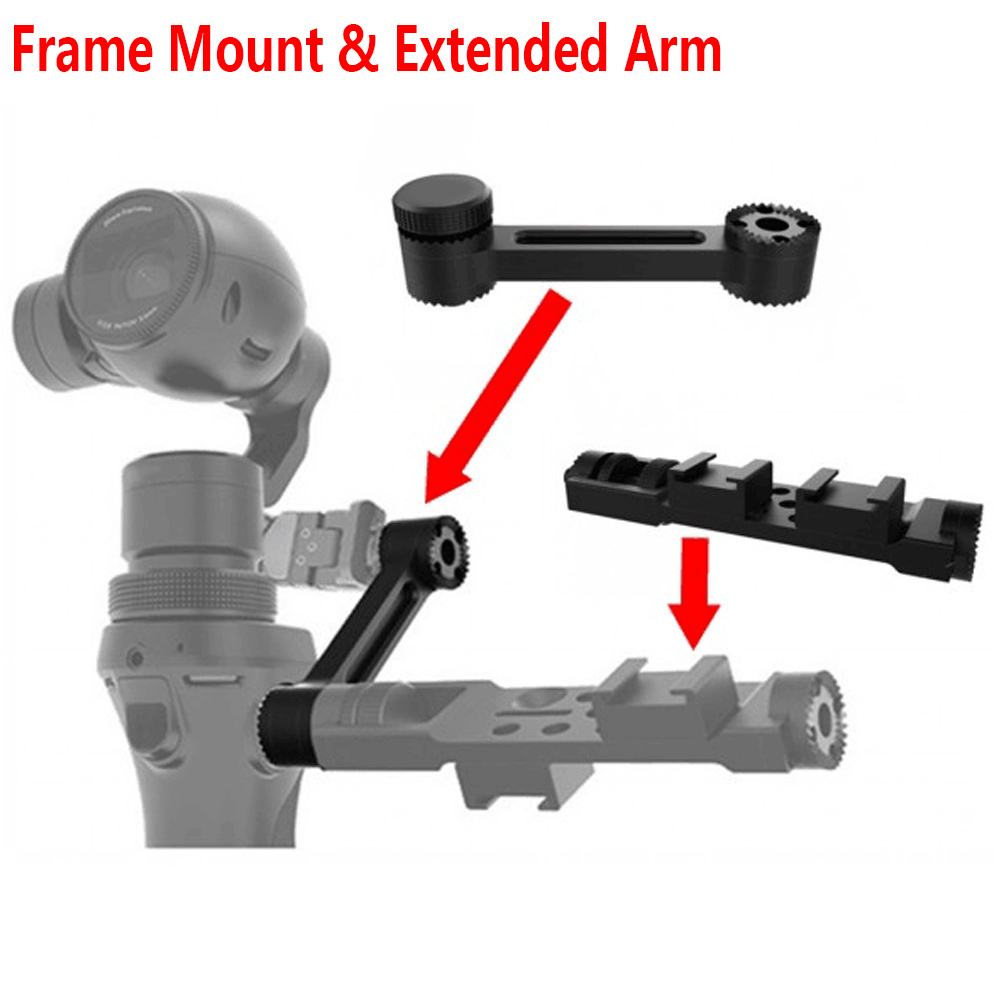 2Pcs/Lot RC Accessories Pro Version Universal Frame Mount & Extended Arm for OSMO Handheld Gimbal Camera universal frame mount holder bracket pro version for osmo handheld gimbal camera accessories