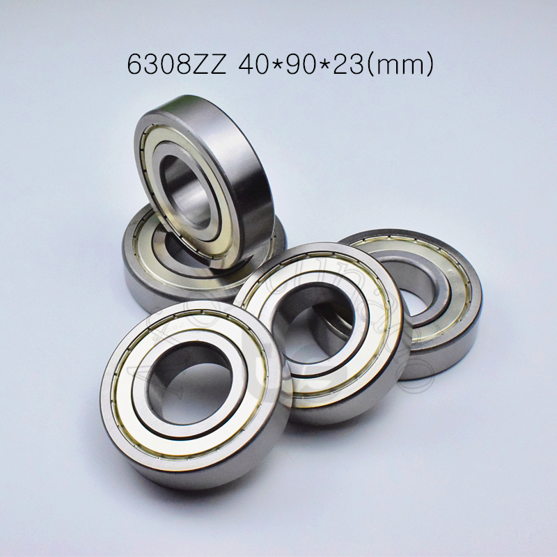 6308ZZ 40*90*23(mm) 1Piece free shipping bearings ABEC-5 metal sealing type 6308 chrome steel deep groove bearing 6308ZZ
