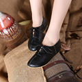 Fashion flats women shoes comfortable handmade leather flat heel lace up female shoes Sen style