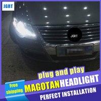 Car Styling Headlights 2007 2011 For Volkswagen Passat DoubleU Angel Eye LED DRL Lens Double Beam
