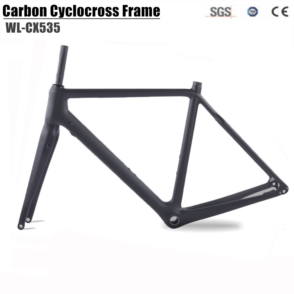 2018 Full Carbon Cyclocross Bike Frame carbon CX Flat Mount disc Bicycle Frame Cyclocross Disc Frame With Thru Axle Gravel bike