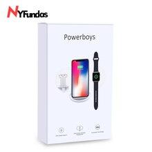 NYFundas senza fili del caricatore del basamento del supporto del supporto del telefono per Apple Orologio iphone XS MAX XR 8 più di X iwatch 2 3 4 airpods chargeur induzione