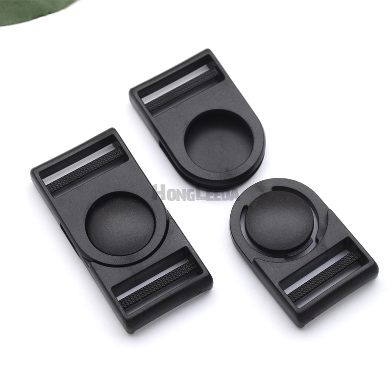 Wholesale Free shipping 25pcs 1inch black POM plastic buckle pressing-shaking buckle for webbing straps XY2540-25mm